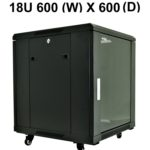 All-Rack 18U Floor Standing Server/Data Cabinet 600mm Wide X 600mm Deep