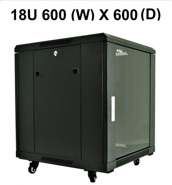 All-Rack 18U Floor Standing Server/Data Cabinet 600mm Wide X 600mm Deep