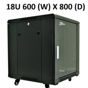 All-Rack 18U Floor Standing Server/Data Cabinet 600mm Wide X 800mm Deep