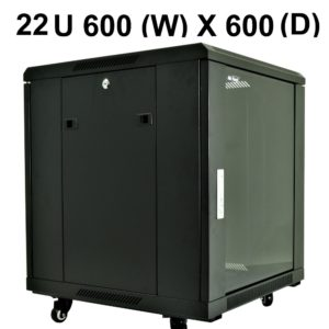 All-Rack 22U Floor Standing Server/Data Cabinet 600mm Wide X 600mm Deep
