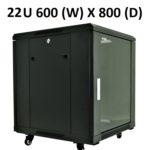 All-Rack 22U Floor Standing Server / Data Cabinet 600mm Wide X 800mm Deep