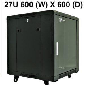 All-Rack 27U Floor Standing Server/Data Cabinet 600mm Wide X 600mm Deep
