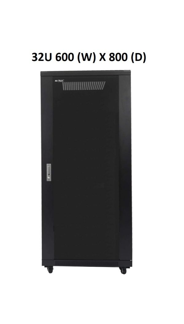 All-Rack 32U Floor Standing Server/Data Cabinet 600mm Wide X 800mm Deep