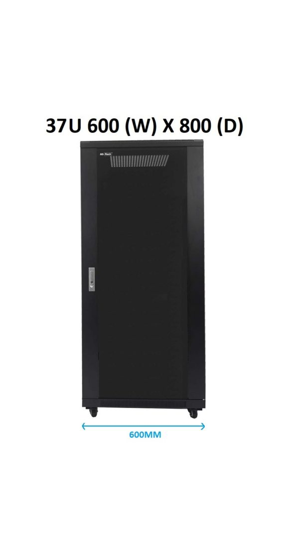 All-Rack 37U Floor Standing Server/Data Cabinet 600mm Wide X 800mm Deep
