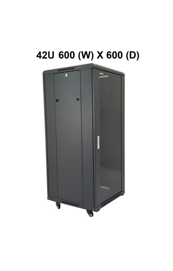 All-Rack 42U Floor Standing Server/Data Cabinet 600mm Wide X 600mm Deep