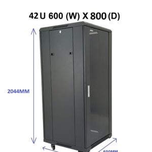 All-Rack 42U Floor Standing Server/Data Cabinet 600mm Wide X 800mm Deep