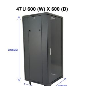 All-Rack 47U Floor Standing Data / Server Cabinet 600mm Wide X 600mm Deep
