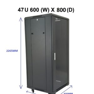 All-Rack 47U Floor Standing Server/Data Cabinet 600mm Wide X 800mm Deep