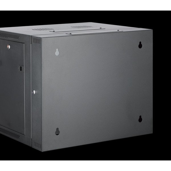 All-Rack 6U 550mm Deep 2 Part/Hinged Wall Mount Cabinet