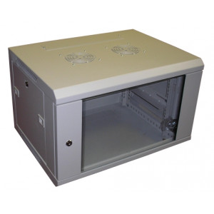 All-Rack Wall Mount Cabinet 21U 600mm Wide X 600mm Deep Grey