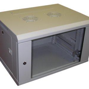 All-Rack Wall Mount Cabinet 9U 600mm Wide X 600mm Deep Grey