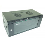 All-Rack Wall Mount Data Cabinet 6U 540mm Wide X 300mm Deep Black, Data Rack, Network Cabinet