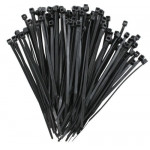 Black 4'' Cable Ties, Pack of 100