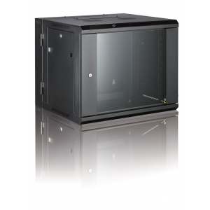 All-Rack 12U 550mm Deep 2 Part/Hinged Wall Mount Cabinet
