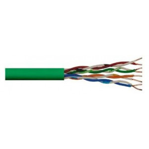 Cat 5e UTP Solid Cable PVC 305m Green