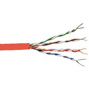 Cat 5e UTP Solid Cable PVC 305m Red