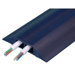 Combi Cable Cover, 9mtr 93mm X 19mm Cable Cover Black 2 X 16mm X 10mm Holes