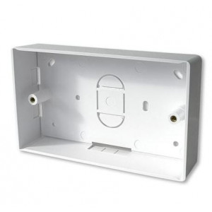 32mm Double Back Box White PVC