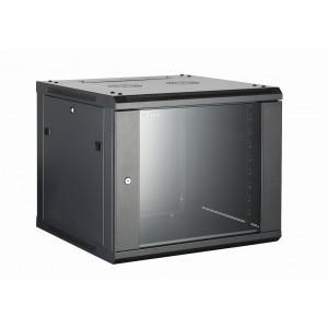 All-Rack Wall Mount Cabinet 9U 600mm Wide X 600mm Deep Black