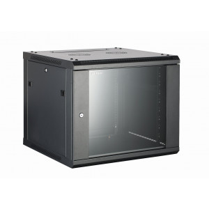 All-Rack Wall Mount Data Cabinet 12U 600mm Wide X 550mm Deep Black, Data Rack, Network Cabinet