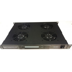 All-Rack 4 Way Digital Thermostatically ControlLED Rack Mount Fan Tray