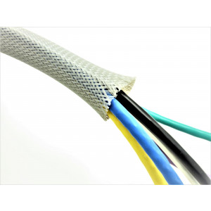 Braided Sleeving 10mm - 21mm Grey