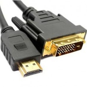 1 Mtr DVI-D to HDMI Lead Black