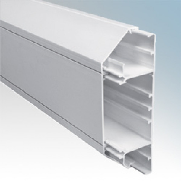 3 Compartment White Dado Trunking