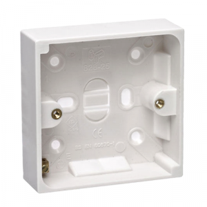 32mm Back Box White PVC - Single