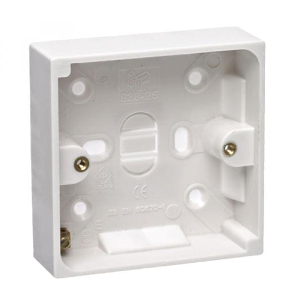 32mm Back Box White PVC - Single