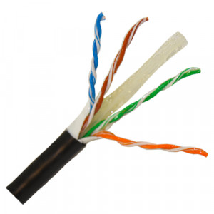 Cat 6 PVC Solid Cable 305m Black