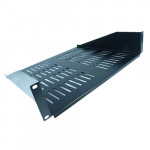 All-Rack 2U 400mm Deep Front Fixing Cantilever Shelf Black