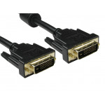 1 Mtr DVI-D to DVI-D Lead Black