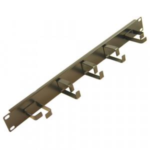 All-Rack 1U Cable Management Bar, 3 Horizontal & 2 Vertical