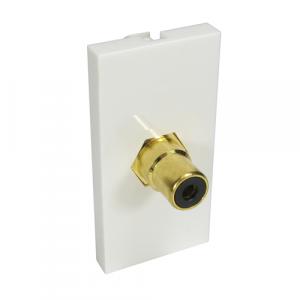 1 X RCA (Black) Euro Mod - Coupler Type + Gold Connector