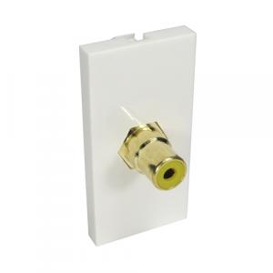 1 X RCA (Yellow) Euro Mod - Coupler Type + Gold Connector
