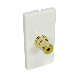 1 X F-connector - Coupler Type + Gold Connector