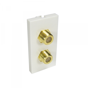 2 X F Type Connector - Coupler Type + Gold Connector