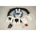 External Cat 5e UTP Ethernet Home Network RJ45 Kit Full Copper in Black