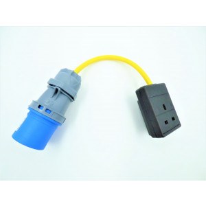Electric Hook up Mains UK Socket Adaptor/Converter Cable