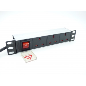 "All-Rack 10"" 3 Way Horizontal PDU for Soho Cabinet"