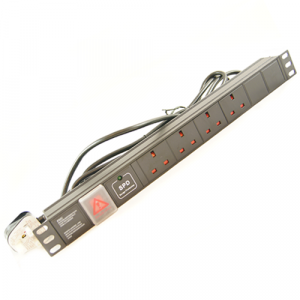 All-Rack 4 Way UK Horizontal PDU