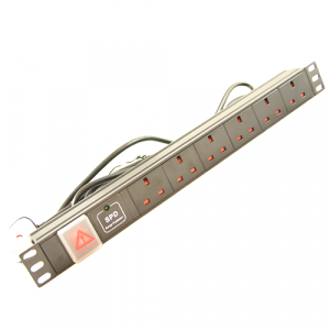 All-Rack 6 Way UK Horizontal PDU