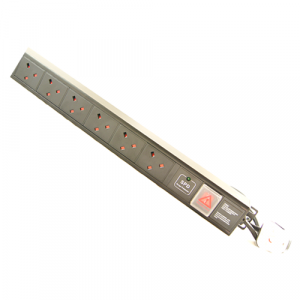 All-Rack 6 Way UK Vertical PDU