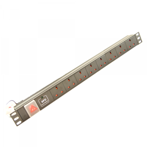 All-Rack 8 Way UK Horizontal PDU