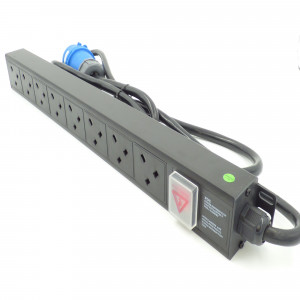 All-Rack 8 Way Vertical UK PDU Inc 32Amp Commando Plug