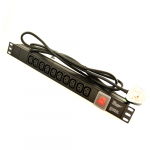 All-Rack 10 Way Horizontal IEC PDU with UK Plug