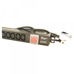 All-Rack 6 Way Vertical IEC PDU with UK Plug