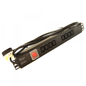 All-Rack 8 Way Horizontal IEC PDU with UK Plug