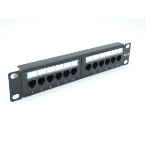 "All-Rack 10"" 12 Port Patch Panel Cat 6 for Soho Cabinet"